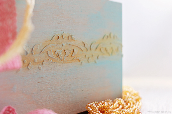 декор шкатулки своими руками, текстурная паста, акриловые краски, handmade decor box, texture paste, acrylic paint