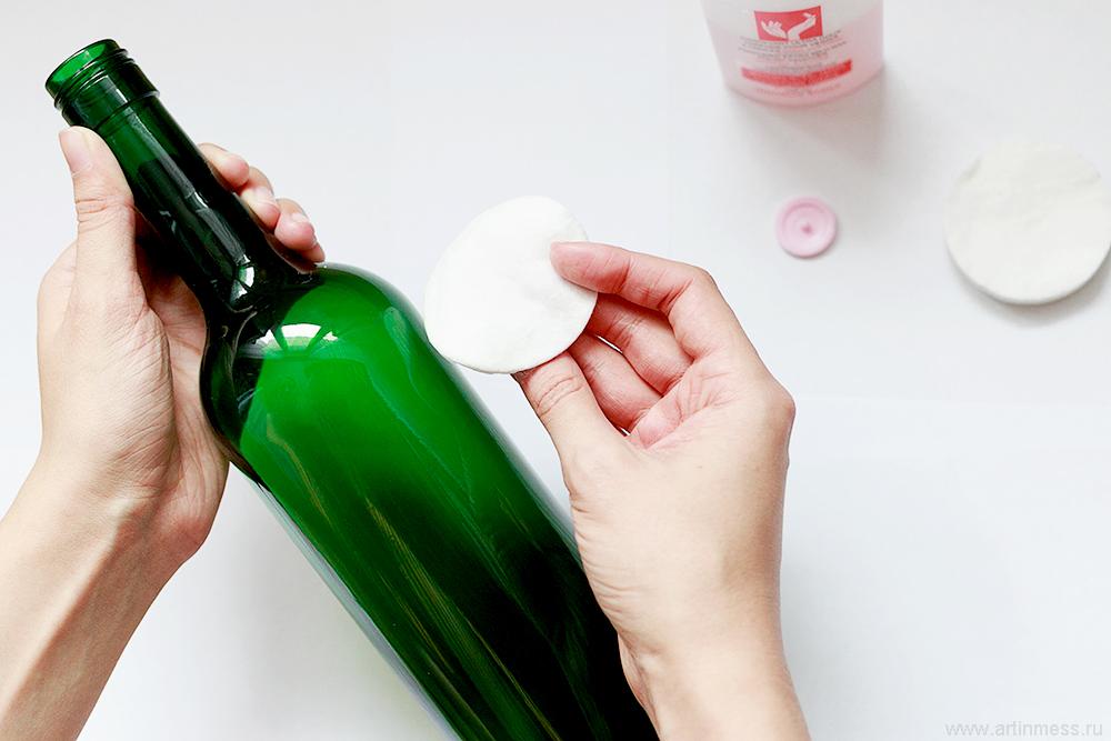 мастер-класс декор бутылки своими руками, DIY bottle tutorial