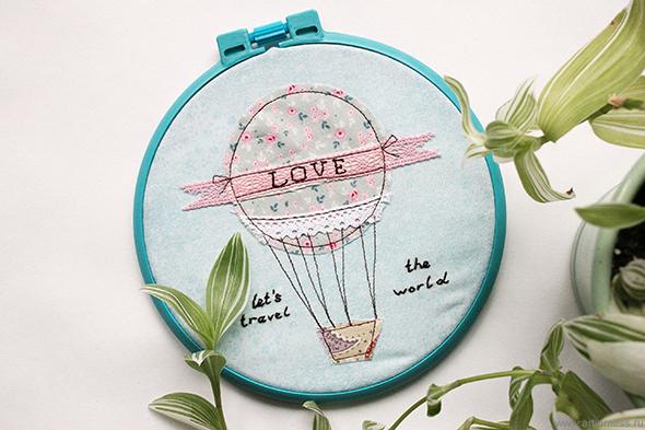 """Хуп арт """"Воздушный шар"""" / Hoop art """"Air baloon"""""""