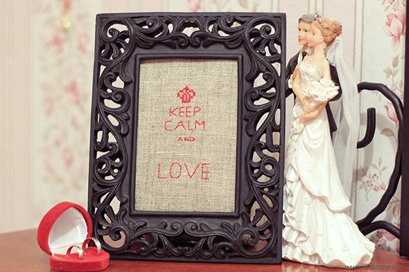 мешковина, декор своими руками, вышивка, keep calm and love, keep calm and cross stitch, sackcloth, home decor