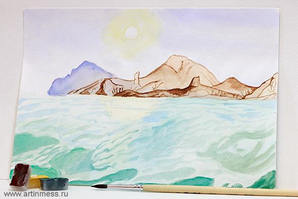 Рисование акварелью watercolor drawing
