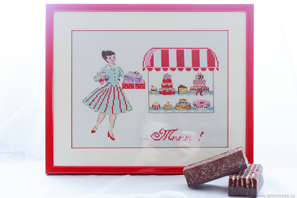 Helene le Berre, candyshop, cross stitching, вышивка, french desighers, french designs, французский дизайн, французский дизайнер