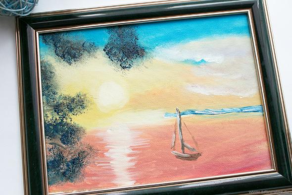 Морской пейзаж / Seascape, живопись маслом, oil painting
