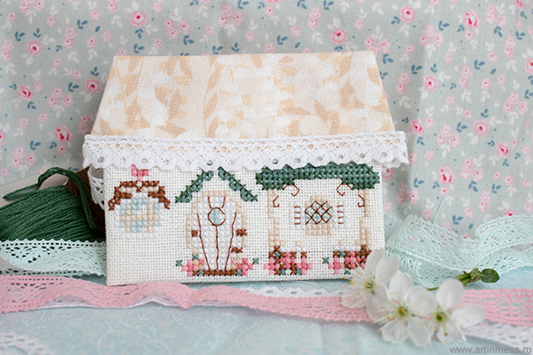 Creation Point de Croix, Домик-игольница, the house - needle bar, вышивка крестом, cross-stitching