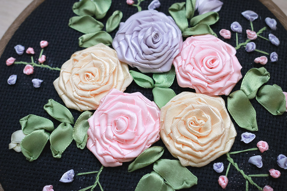 Вышивка лентами / Ribbon Embroidery
