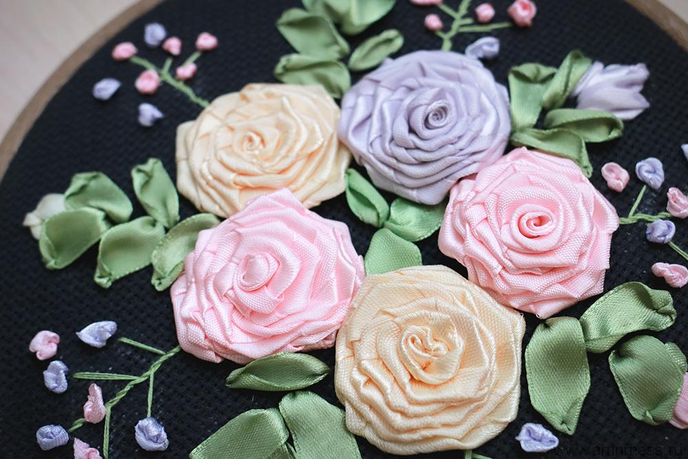 Вышивка лентами, Ribbon Embroidery