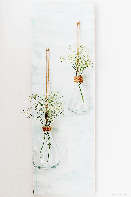 Мастер-класс, весеннее панно с вазами, декор дома, весенний декор, декор своими руками, DIY - flower holder, Spring decor, tutorial