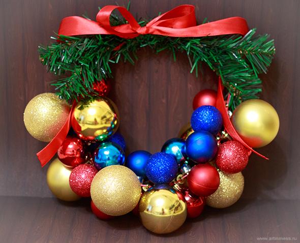 Новогодний венок своими руками / Handmade new year christmas wreath