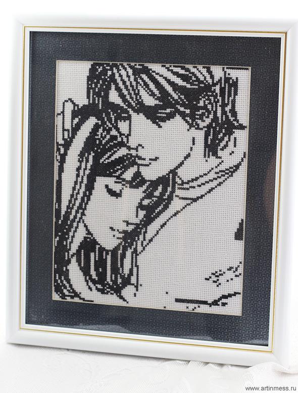 Вышивка парочка любовь cross-stitching love story couple