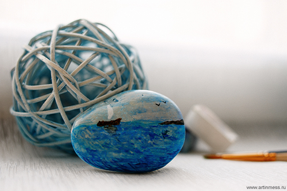 Рисование по камню, роспись камня, роспись камня акварелью, живопись по камню, painting on stone, watercolor