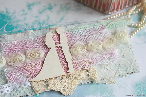 Свадебный конверт, скрапбукинг, своими руками, чипборд, ленты, кружева, wedding envelope, scrapbooking, chipboard, lace