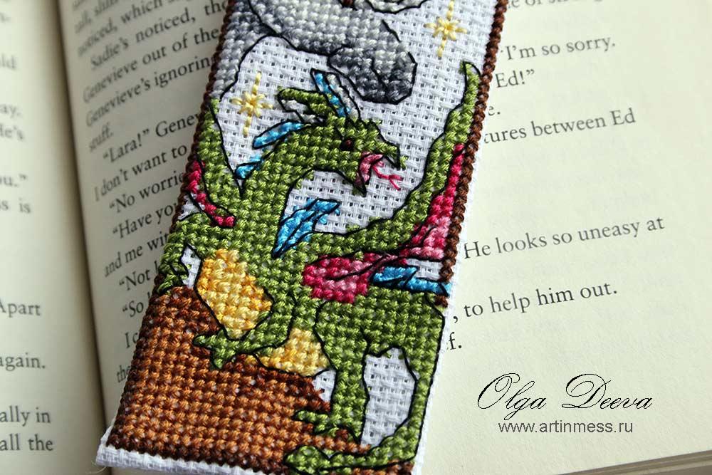 Fantasy bookmark, фентезийная закладка, вышивка крестом, схема вышивки крестом, cross-stitching, cross-stitching pattern, dragon, fairy, unicorn, дракон, единорог, фея