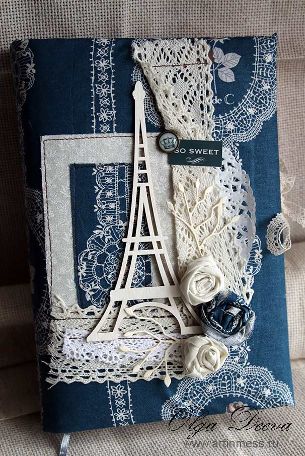 Блокнот, Эйфелева башня, Париж, скрапбуинг, paris, scrap, notebook, ручная работа, handmade, Effel tower