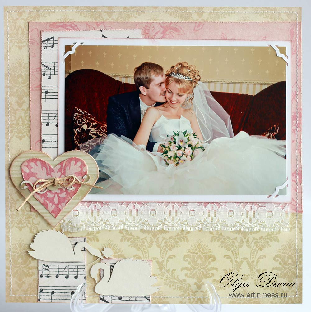 Скрап Свадебная страничка / Scrap Wedding layout