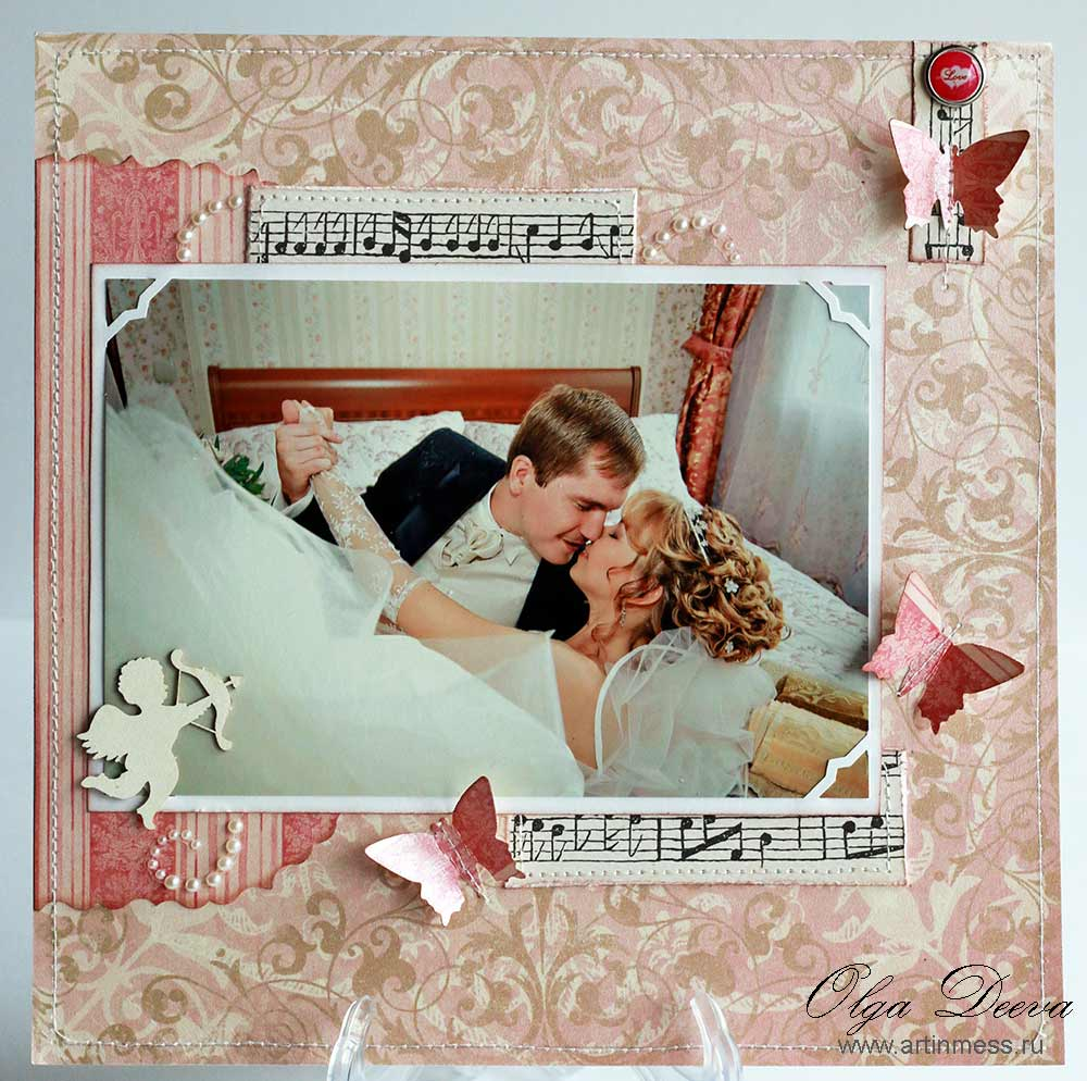Скрап Свадебная страничка / Scrapbooking Wedding layout